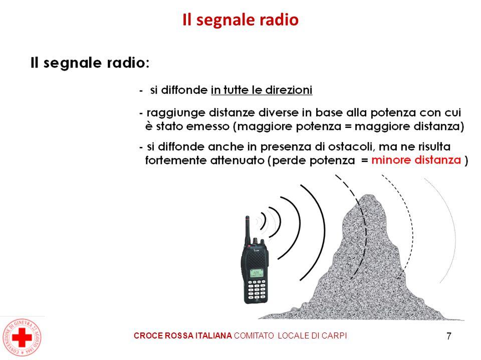 7 Il segnale radio CROCE ROSSA ITALIANA COMITATO LOCALE DI CARPI
