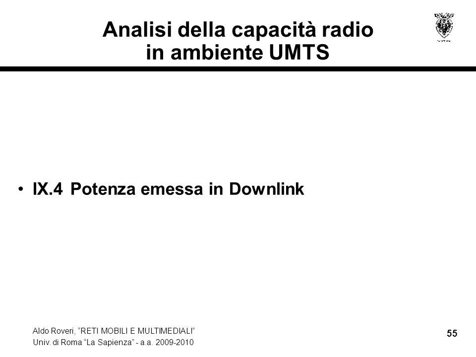 Aldo Roveri, RETI MOBILI E MULTIMEDIALI Univ. di Roma La Sapienza - a.a.