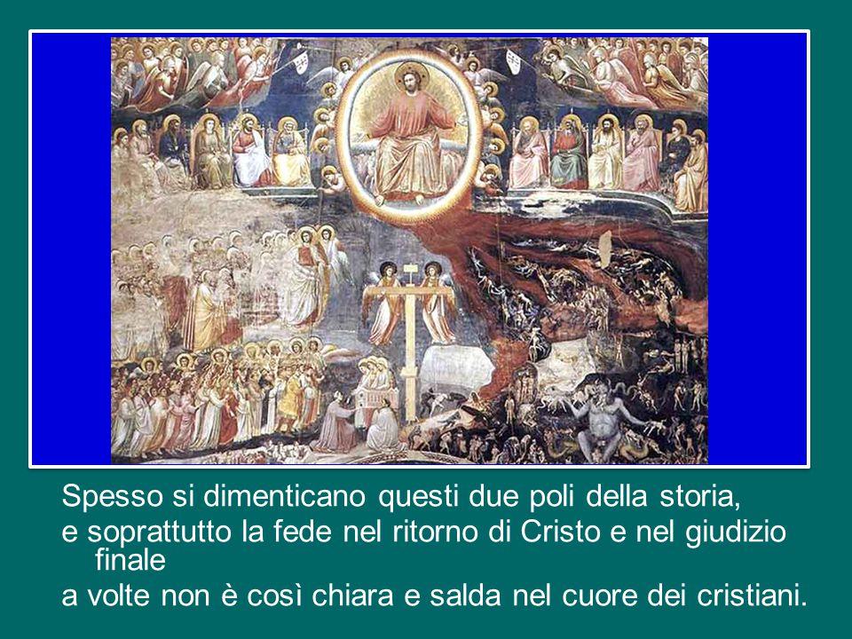 La storia umana ha inizio con la creazione dell'uomo e della donna a immagine e somiglianza di Dio e si chiude con il giudizio finale di Cristo.