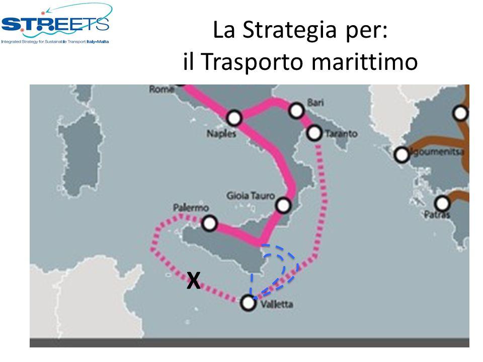 La Strategia per: il Trasporto marittimo X