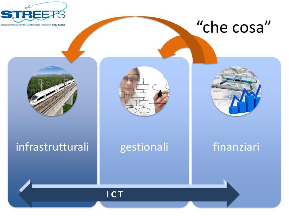 """che cosa"" infrastrutturaligestionalifinanziari I C T"