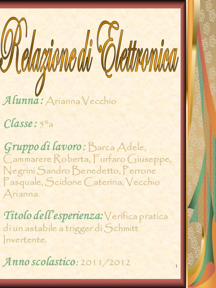 1 Alunna : Arianna Vecchio Classe : 5°a Gruppo di lavoro : Barca Adele, Cammarere Roberta, Furfaro Giuseppe, Negrini Sandro Benedetto, Perrone Pasqual