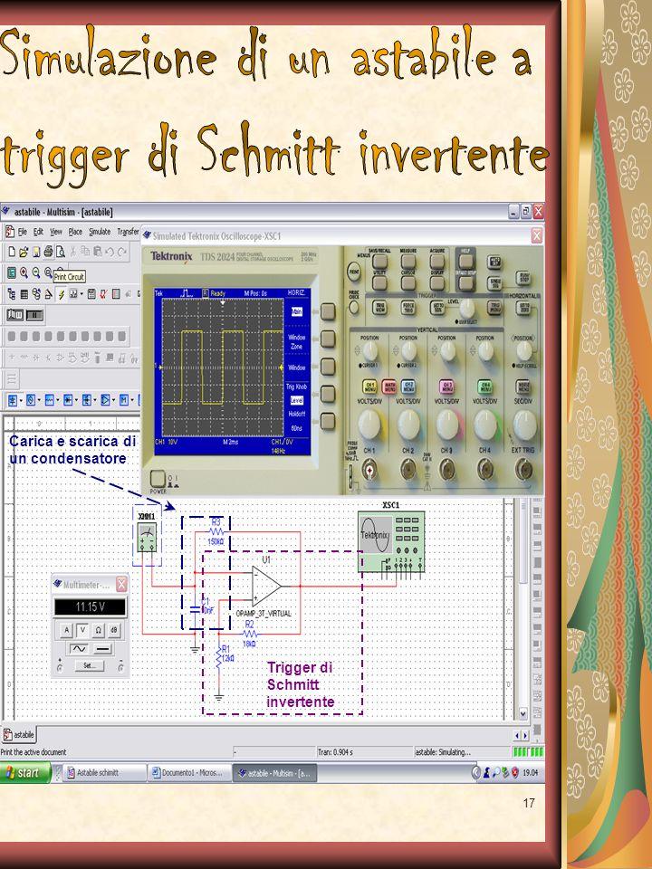 17 Trigger di Schmitt invertente Carica e scarica di un condensatore
