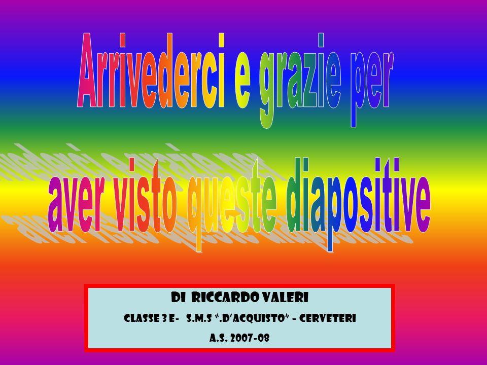 "Di Riccardo Valeri Classe 3 E- S.M.S "".D'Acquisto"" – Cerveteri a.s. 2007-08"