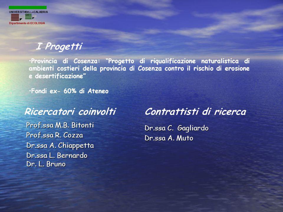 """Provincia di Cosenza: """"Progetto di riqualificazione naturalistica di ambienti costieri della provincia di Cosenza contro il rischio di erosione e dese"""