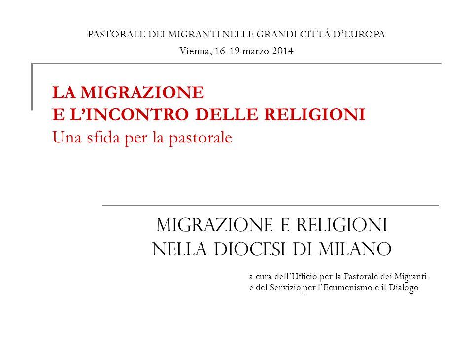 LA MIGRAZIONE E L'INCONTRO DELLE RELIGIONI Una sfida per la pastorale Migrazione e religioni nella Diocesi di Milano a cura dell'Ufficio per la Pastor