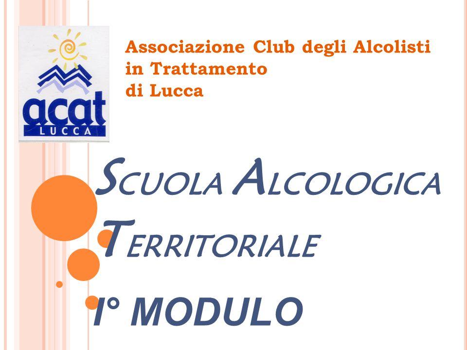 Associazione Club degli Alcolisti in Trattamento di Lucca S CUOLA A LCOLOGICA T ERRITORIALE I° MODULO