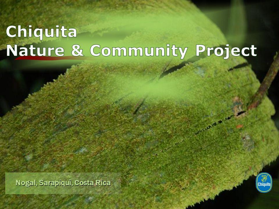 Centro visitatori 3 stanze per gli ospiti un aula per 30 studenti un giardino botanico 2 sentieri per l'esplorazione guidata della foresta Risorsa educativa Chiquita Nature & Community Project