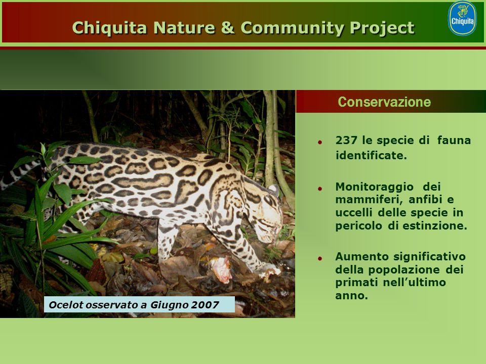 237 le specie di fauna identificate.