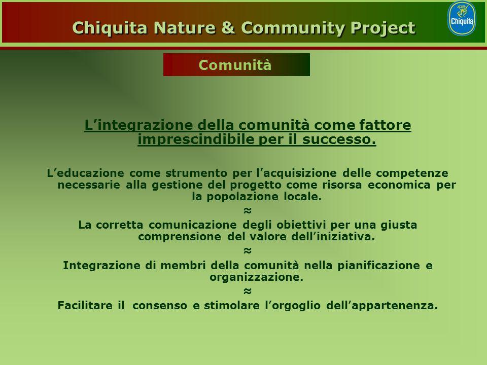 L'integrazione della comunità come fattore imprescindibile per il successo.