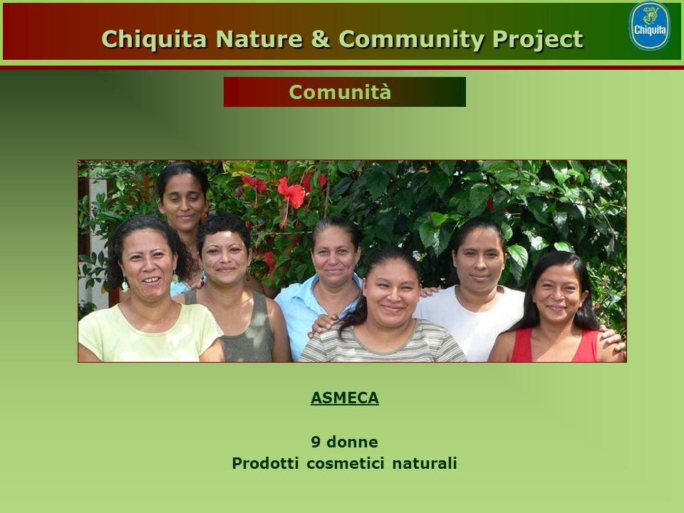 ASMECA 9 donne Prodotti cosmetici naturali Comunità Chiquita Nature & Community Project