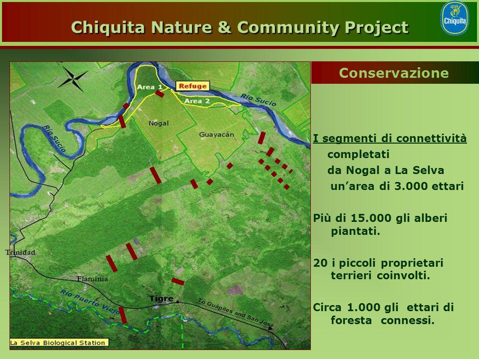 Trinidad Flaminia I segmenti di connettività completati da Nogal a La Selva un'area di 3.000 ettari Più di 15.000 gli alberi piantati.