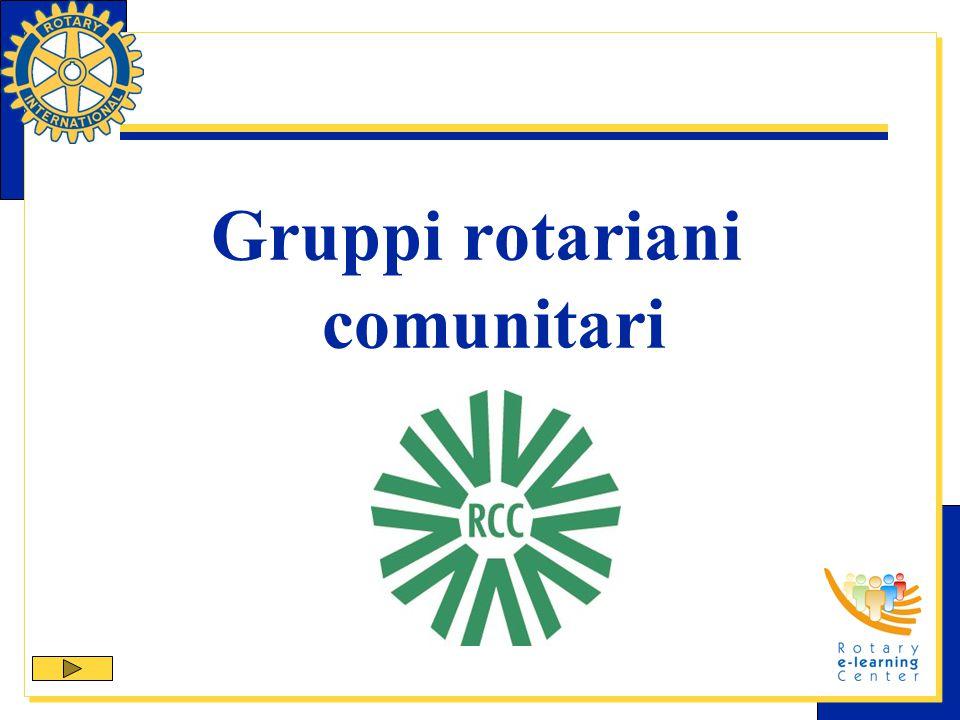 Struttura dei GROC I GROC sono incoraggiati a: eleggere un gruppo direttivo con mandato annuale; Scegliere, dal gruppo direttivo, un rappresentante Il rappresentante rappresenta il GROC con il Rotary club sponsor e il pubblico.