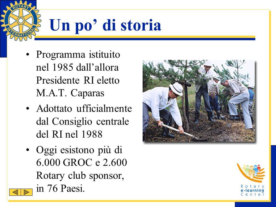 Un po' di storia Programma istituito nel 1985 dall'allora Presidente RI eletto M.A.T. Caparas Adottato ufficialmente dal Consiglio centrale del RI nel