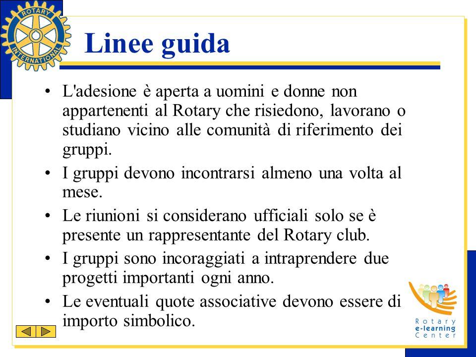 Linee guida L'adesione è aperta a uomini e donne non appartenenti al Rotary che risiedono, lavorano o studiano vicino alle comunità di riferimento dei