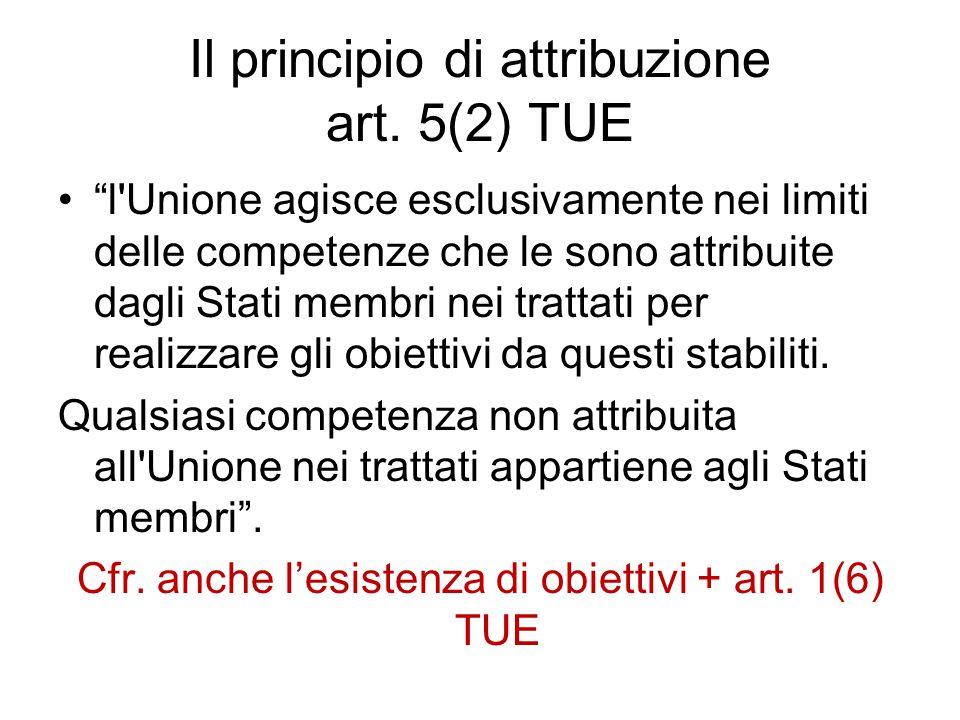 Il principio di attribuzione art.