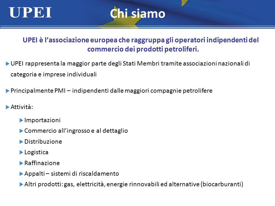 UPEI è l'associazione europea che raggruppa gli operatori indipendenti del commercio dei prodotti petroliferi.