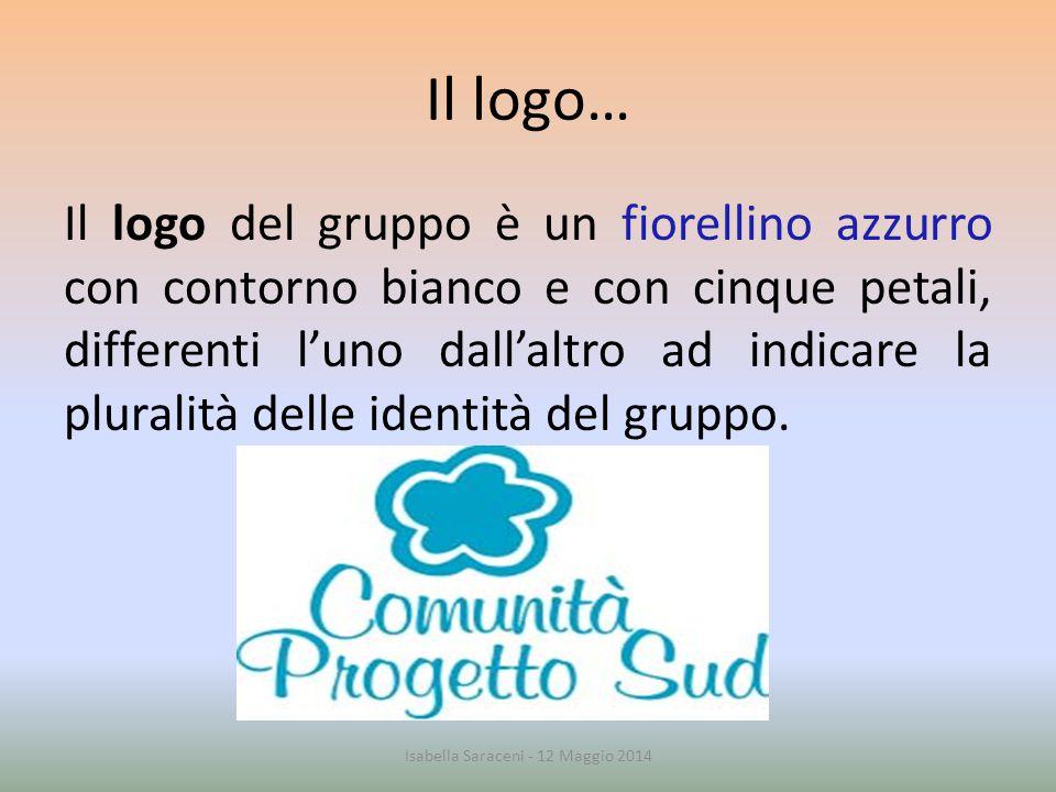 Il logo… Il logo del gruppo è un fiorellino azzurro con contorno bianco e con cinque petali, differenti l'uno dall'altro ad indicare la pluralità dell