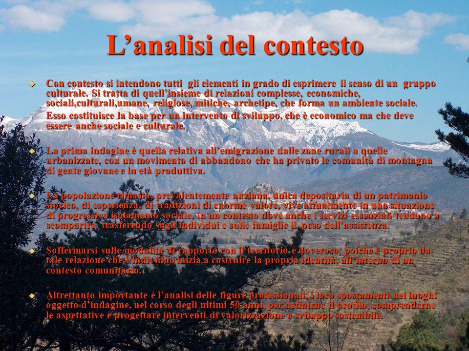 01/04/2015 L'analisi del contesto  Con contesto si intendono tutti gli elementi in grado di esprimere il senso di un gruppo culturale.