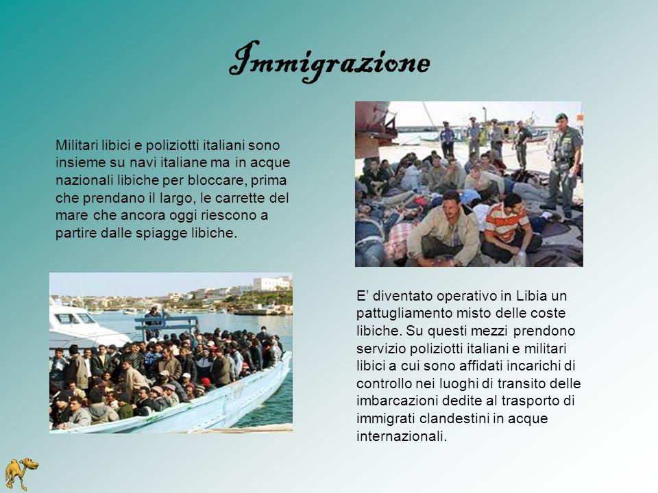 Immigrazione E' diventato operativo in Libia un pattugliamento misto delle coste libiche. Su questi mezzi prendono servizio poliziotti italiani e mili