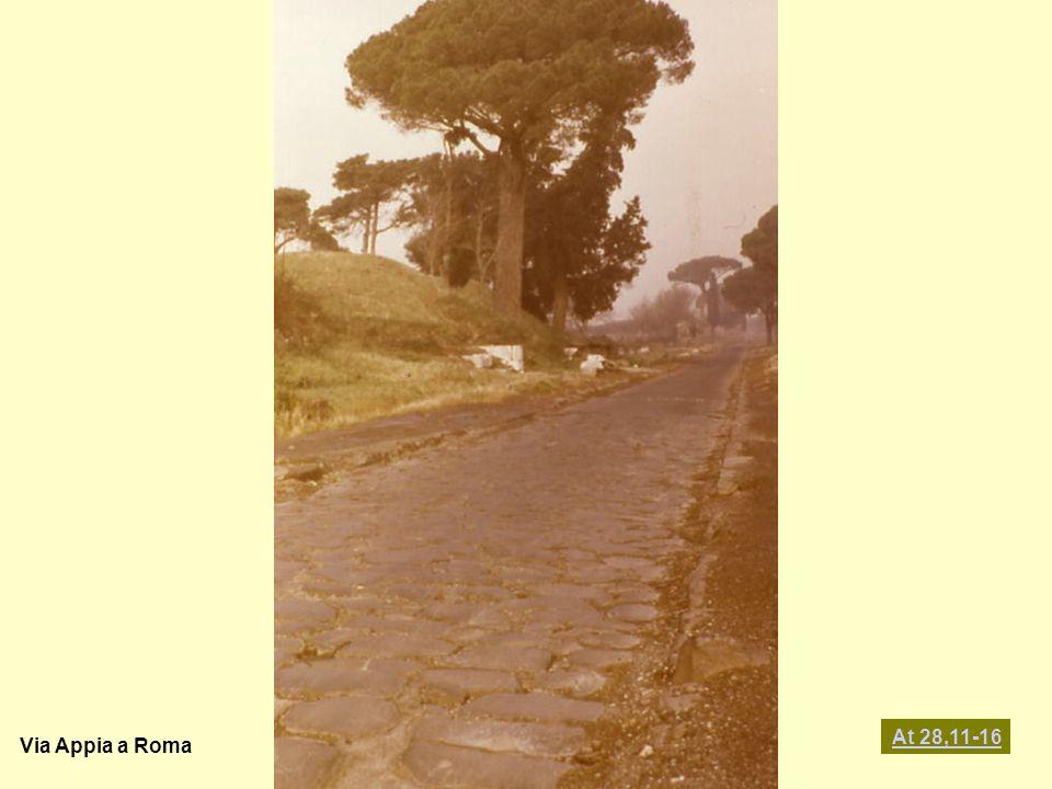 Via Appia a Roma At 28,11-16