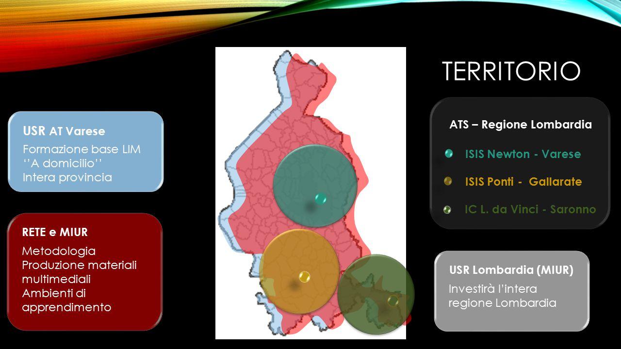 TERRITORIO ISIS Newton - Varese ISIS Ponti - Gallarate IC L. da Vinci - Saronno ATS – Regione Lombardia USR AT Varese Formazione base LIM ''A domicili