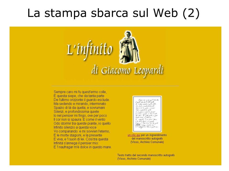 La stampa sbarca sul Web (2)