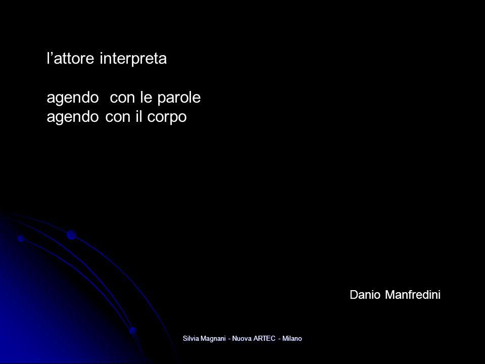 Silvia Magnani - Nuova ARTEC - Milano l'attore interpreta agendo con le parole agendo con il corpo Danio Manfredini