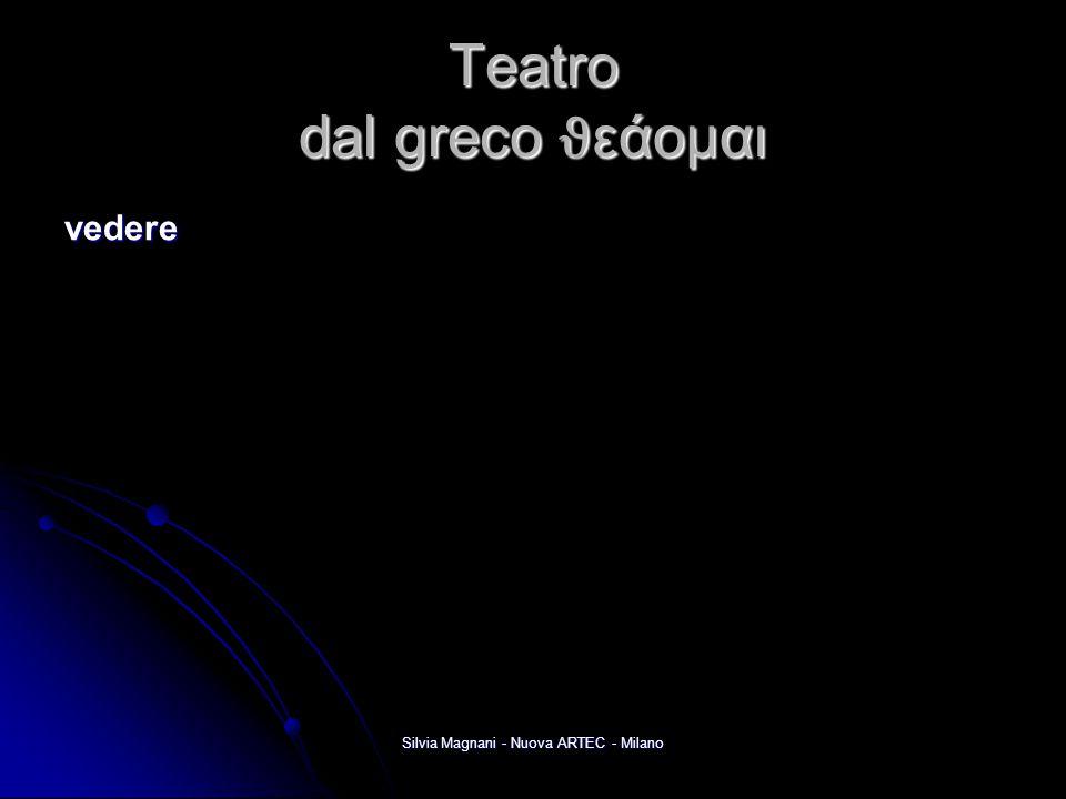 Teatro dal greco ϑ εάομαι vedere Silvia Magnani - Nuova ARTEC - Milano