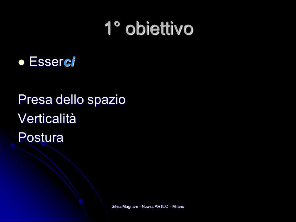 Silvia Magnani - Nuova ARTEC - Milano 1° obiettivo Esserci Esserci Presa dello spazio VerticalitàPostura