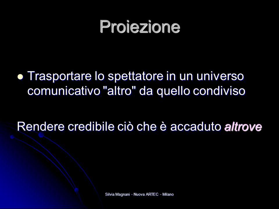 Silvia Magnani - Nuova ARTEC - Milano Proiezione Trasportare lo spettatore in un universo comunicativo