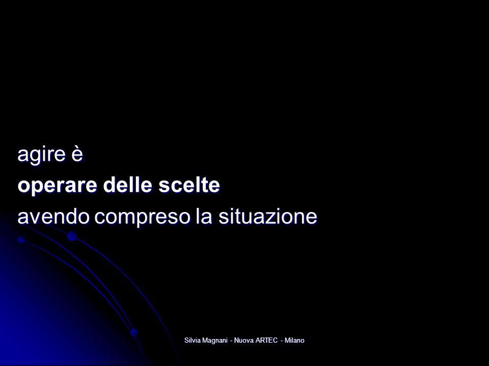 Silvia Magnani - Nuova ARTEC - Milano agire è agire è operare delle scelte operare delle scelte avendo compreso la situazione avendo compreso la situa