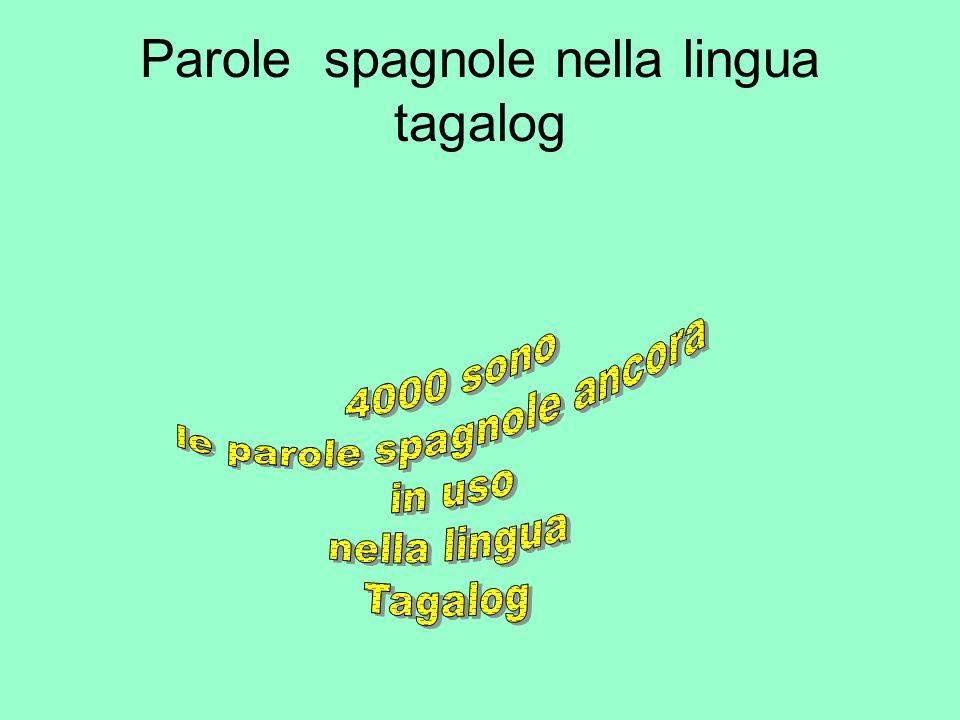 Parole spagnole nella lingua tagalog