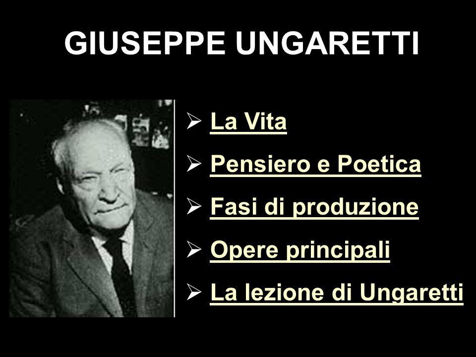 LA VITA G.Ungaretti nasce ad Alessandria d Egitto nel 1888.