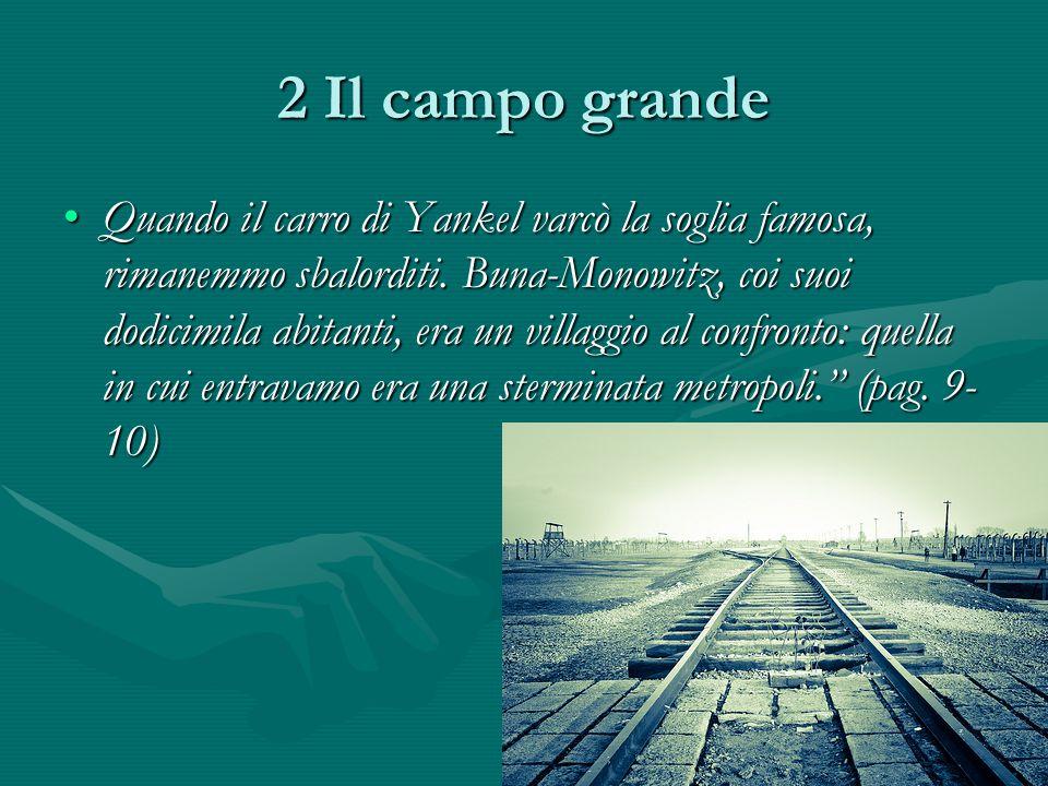 2 Il campo grande Quando il carro di Yankel varcò la soglia famosa, rimanemmo sbalorditi.