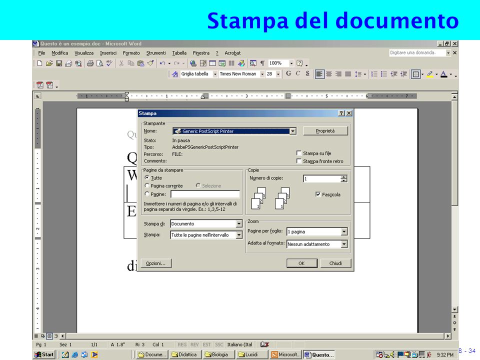 A.P. cat. B - 34 Stampa del documento