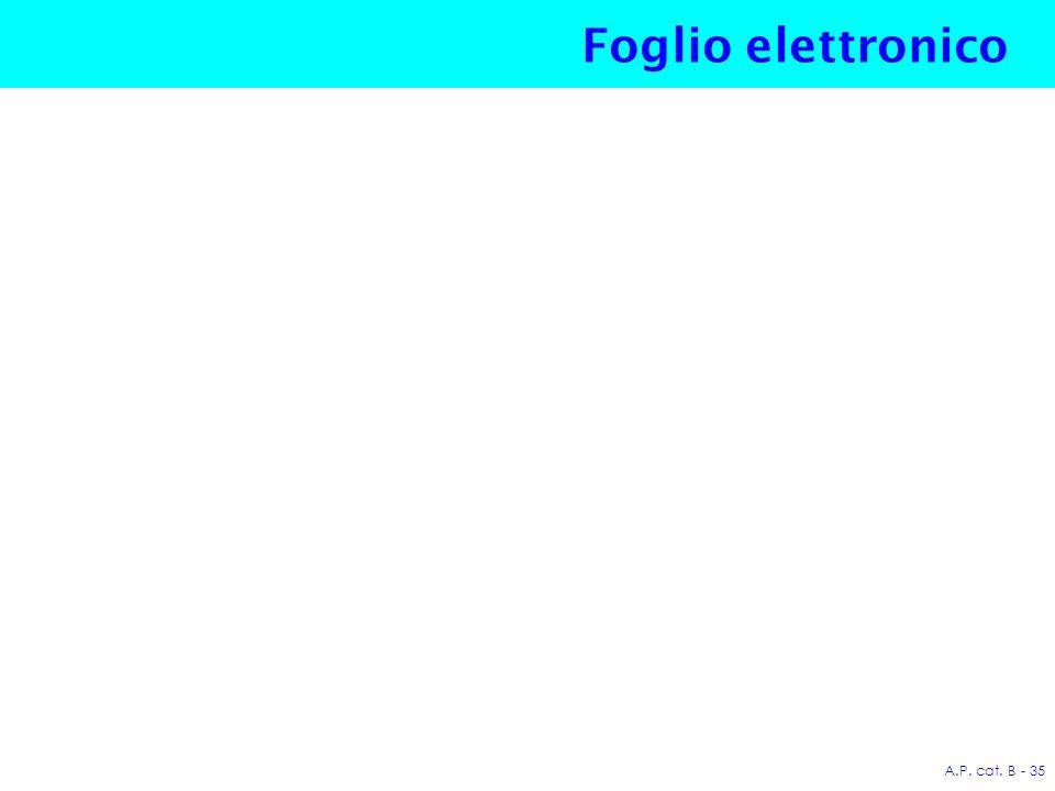 A.P. cat. B - 35 Foglio elettronico