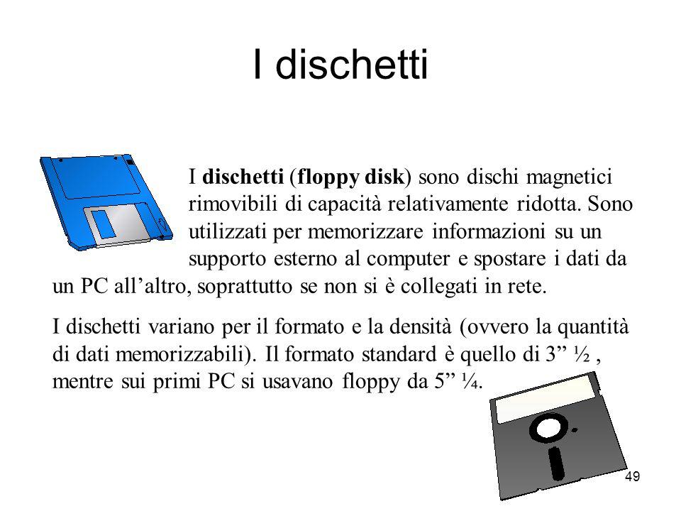 48 NB : L'hard disk è uno dei componenti più delicati di tutto il computer, molto sensibile agli urti e alle vibrazioni. Se le testine toccassero la s