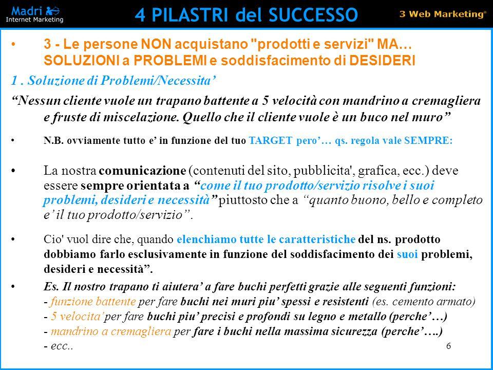 6 4 PILASTRI del SUCCESSO 3 - Le persone NON acquistano