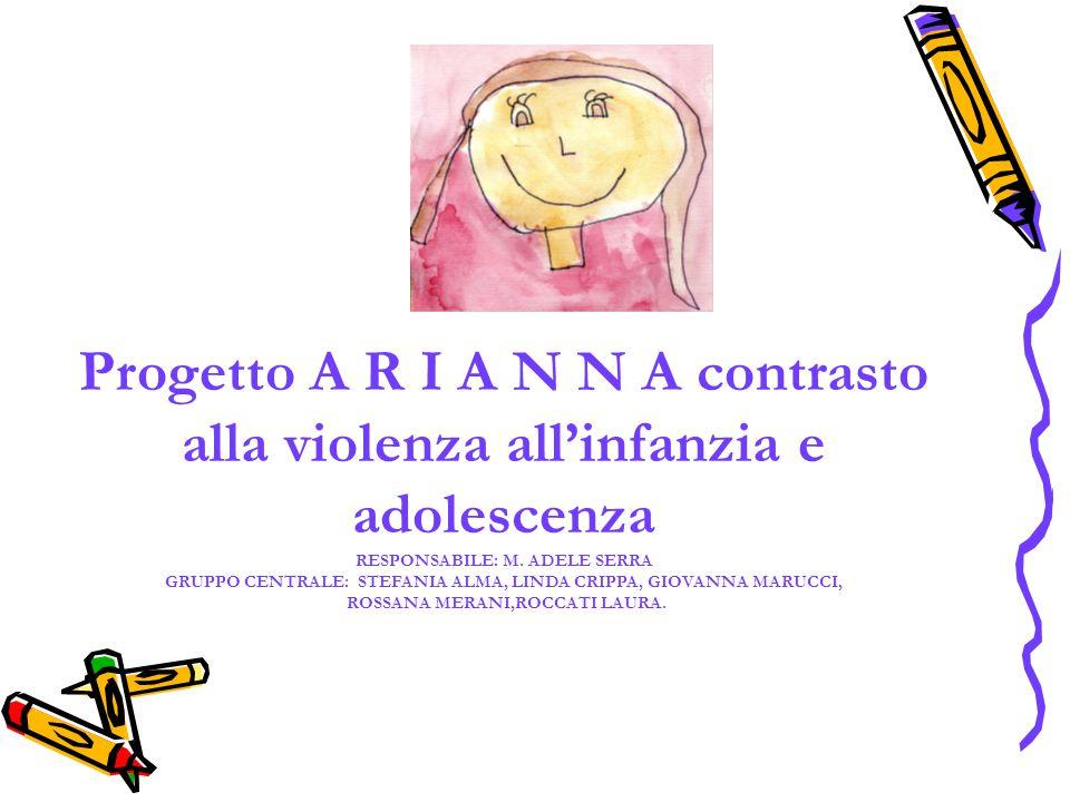 Progetto A R I A N N A contrasto alla violenza all'infanzia e adolescenza RESPONSABILE: M.