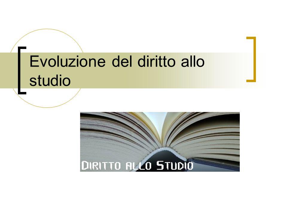 Evoluzione del diritto allo studio