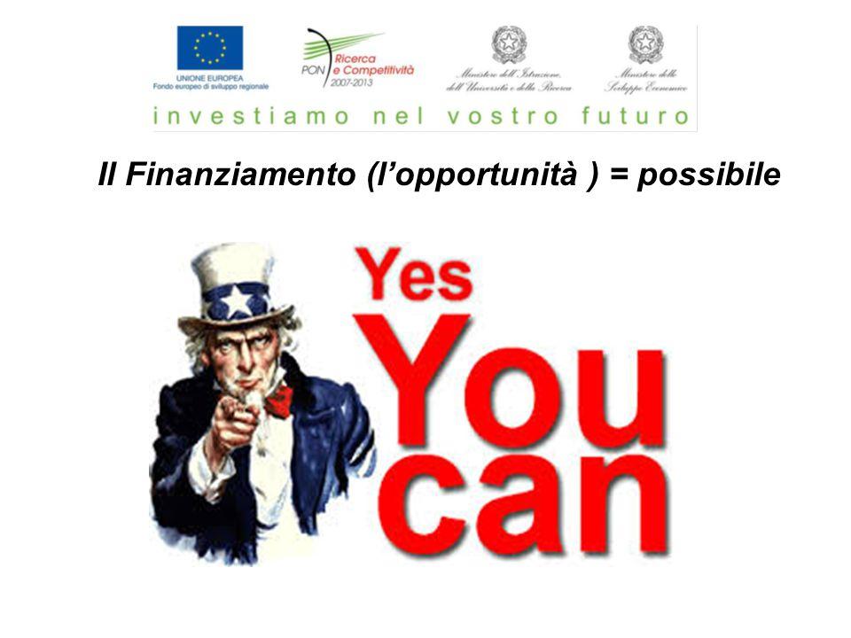 Il Finanziamento (l'opportunità ) = possibile