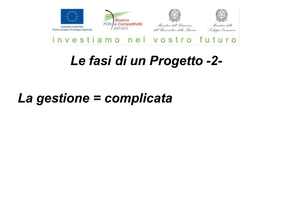 Le fasi di un Progetto -2- La gestione = complicata
