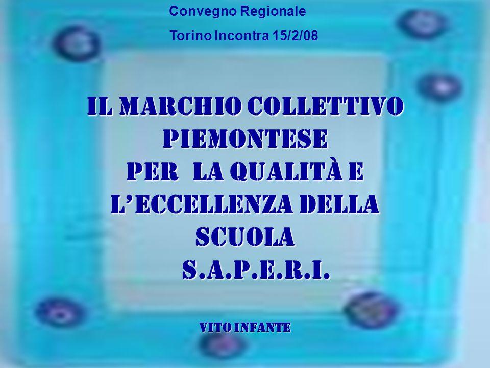 Convegno Regionale Torino Incontra 15/2/08 Il Marchio Collettivo Piemontese per la Qualità e l'Eccellenza della scuola S.A.P.E.R.I. S.A.P.E.R.I. Vito