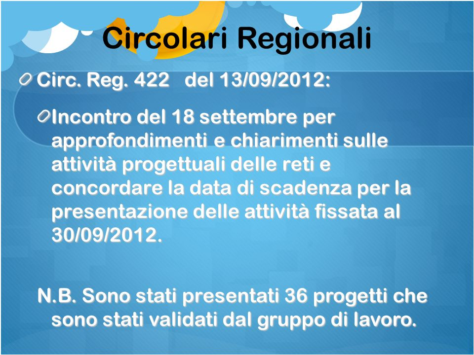 Circolari Regionali Circ. Reg.