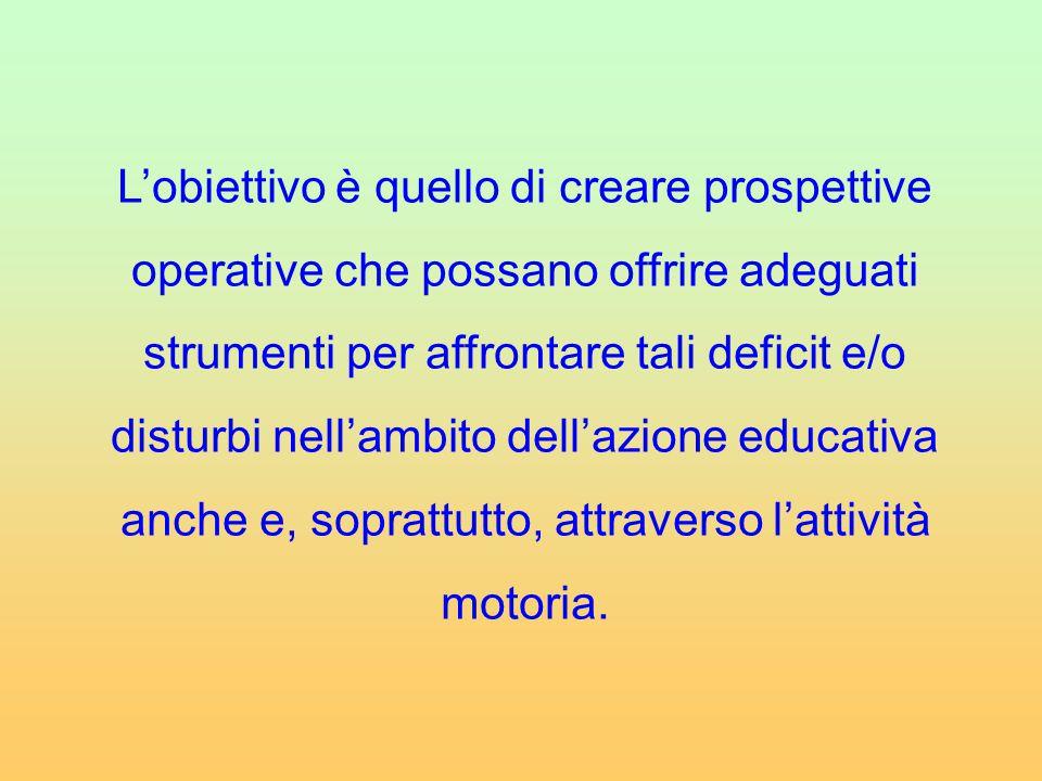 L'obiettivo è quello di creare prospettive operative che possano offrire adeguati strumenti per affrontare tali deficit e/o disturbi nell'ambito dell'