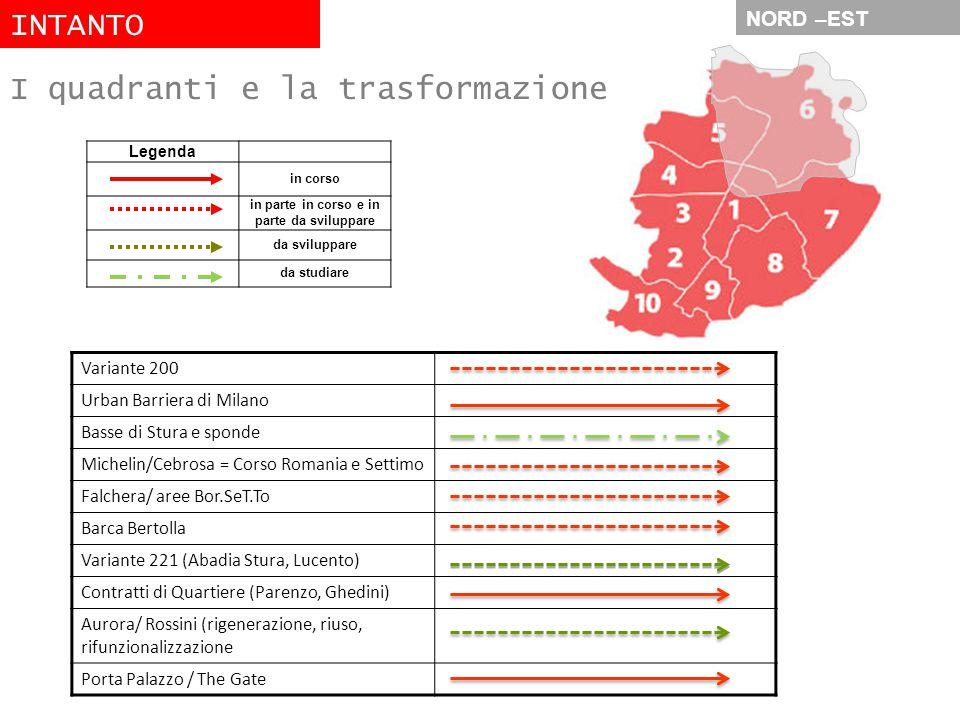 NORD –EST Variante 200 Urban Barriera di Milano Basse di Stura e sponde Michelin/Cebrosa = Corso Romania e Settimo Falchera/ aree Bor.SeT.To Barca Ber
