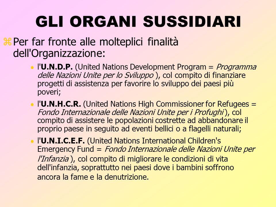 SEGRETARIATO zIl Segretariato svolge il lavoro di coordinamento e amministrativo delle Nazioni Unite. zSegue le direttive dell'Assemblea Generale, del