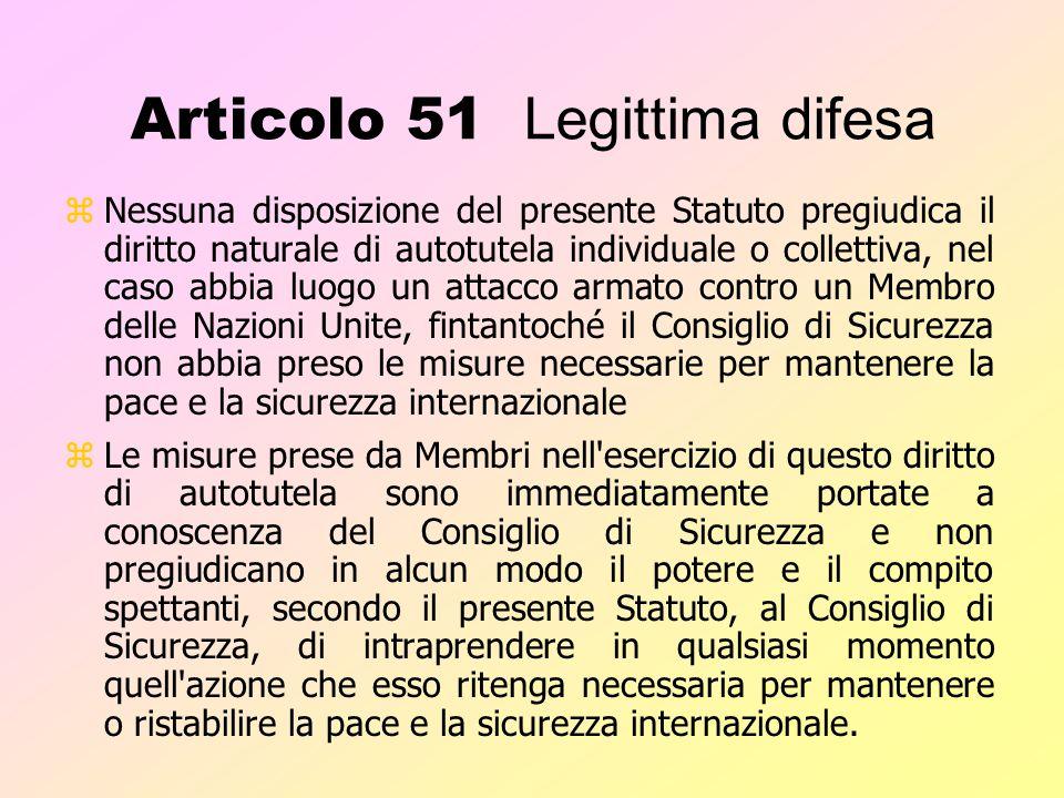Articolo 43 zAl fine di contribuire al mantenimento della pace e della sicurezza internazionale, tutti i Membri delle Nazioni Unite si impegnano a met