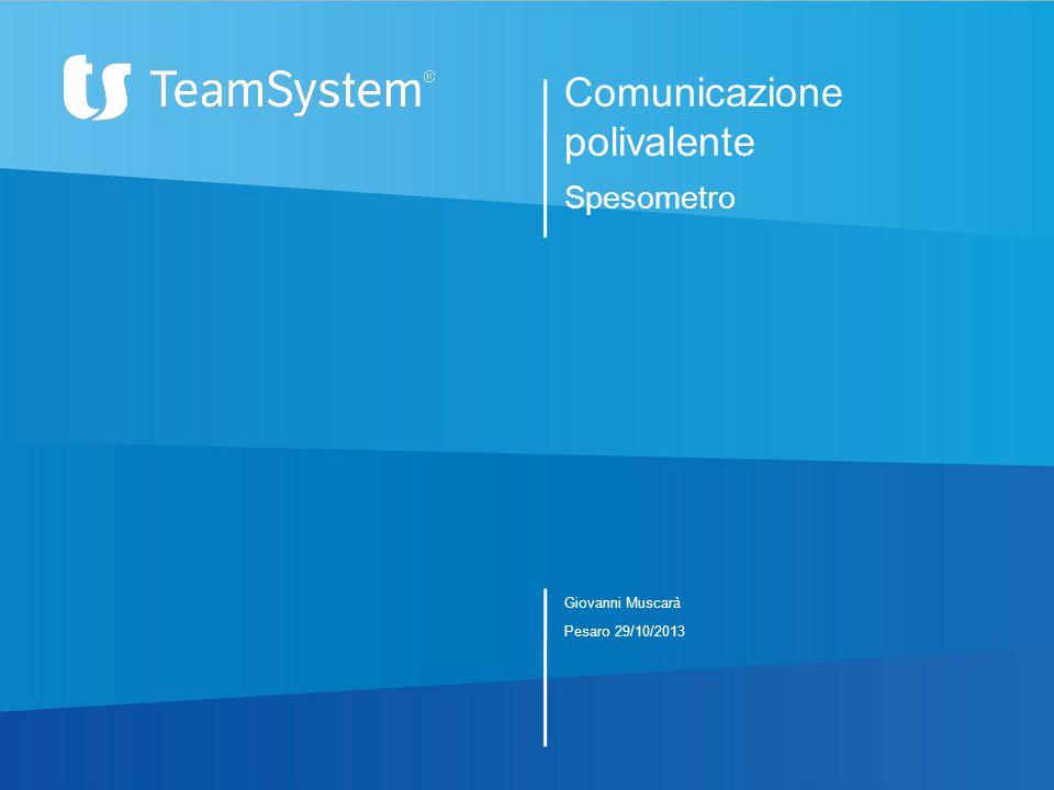 Comunicazione polivalente Spesometro Giovanni Muscarà Pesaro 29/10/2013